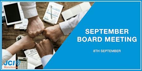 September Board Meeting Tickets
