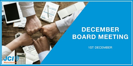 December Board Meeting Tickets