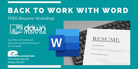 Back to Work: Microsoft WORD Resume Workshop tickets