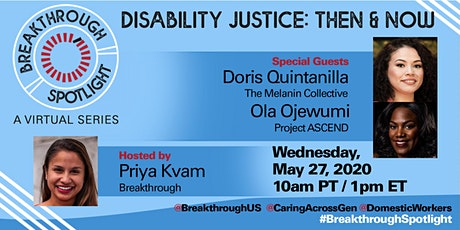 Breakthrough Spotlight: Disability Justice, Then & Now tickets
