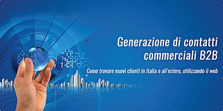 Generazione di contatti commerciali B2B -28 Maggio 2020 biglietti