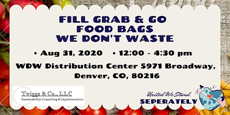 Aug Fill Grab & Go Food Bags for We Don't Waste tickets