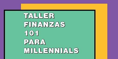 Taller Finanzas 101 para Millennials entradas