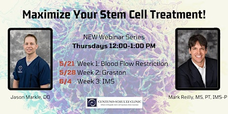 Maximize Your Stem Cell Treatment! Week 3: IMS tickets