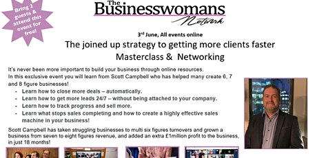 The joined up strategy to getting more clients faster Success Masterclass & Networking tickets