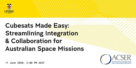 [WEBINAR] Cubesats Made Easy: Streamlining Integration & Collaboration for Australian Space Missions tickets