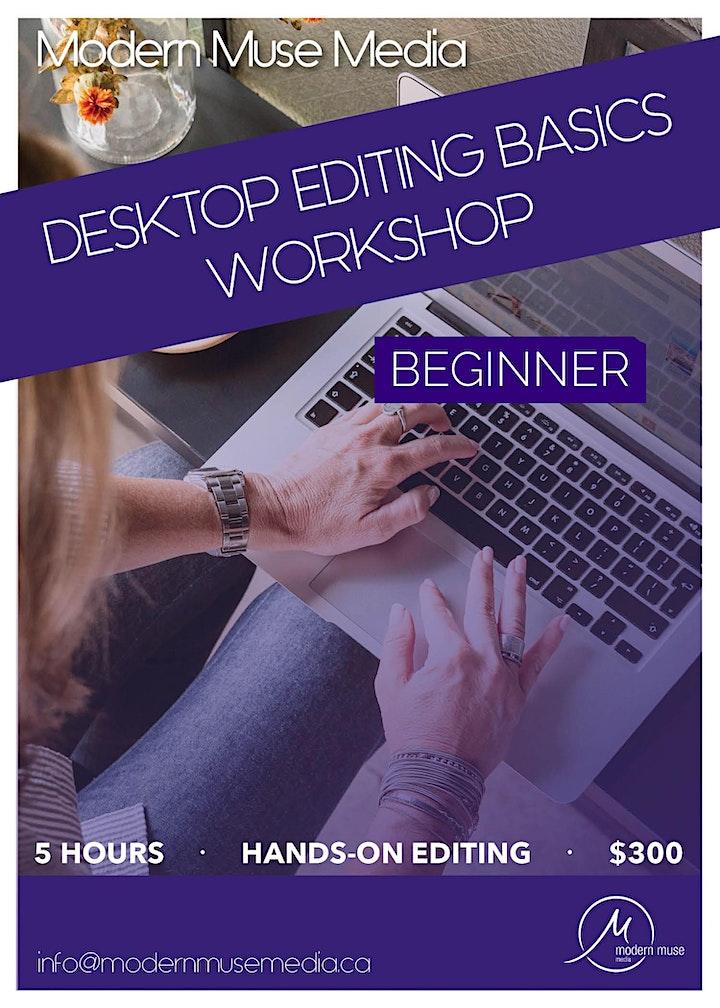 ONLINE Desktop Editing Basics Workshop: Beginner image
