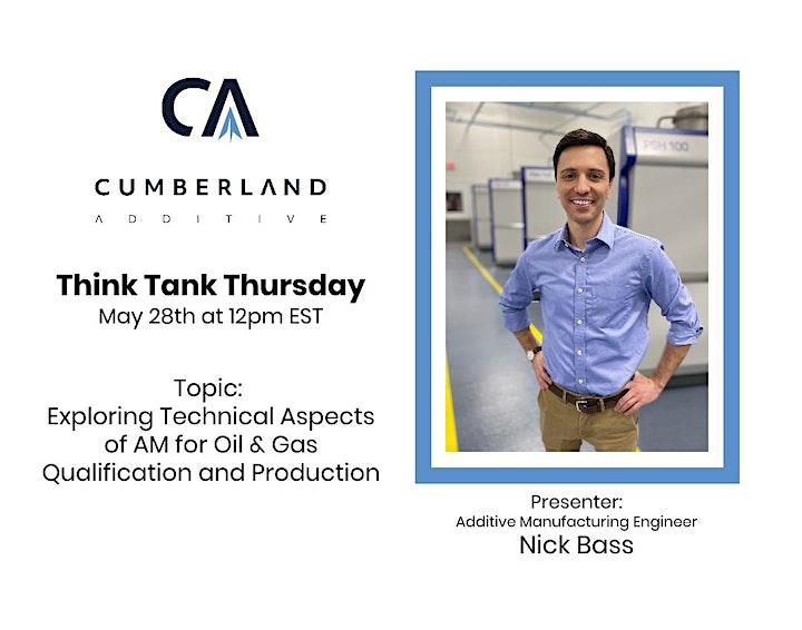 Cumberland Additive Think Tank Thursday image