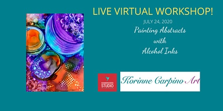 Abstract Painting with Alcohol Inks and Household Objects - Virtual Event tickets