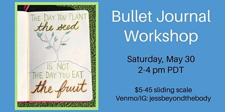 Fruit-Themed Bullet Journal for June- Workshop with Jess Beyond the Body tickets
