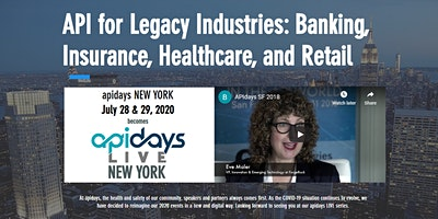 apidays LIVE NEW YORK - API for Legacy Industries