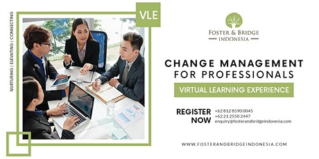 Virtual Learning Experience Change Management For Professionals tickets
