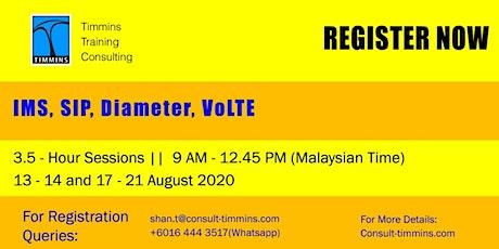 Webinar - IMS, SIP, Diameter, VoLTE tickets