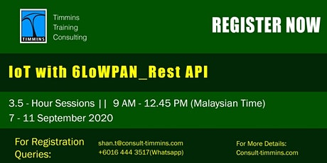 Webinar - IoT With 6LoWPAN_Rest API tickets