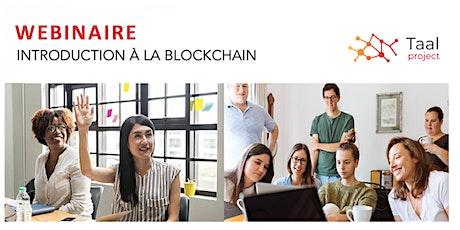 WEBINAIRE Mai - Introduction à la Blockchain billets