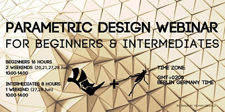 Parametric Design WEBINAR (Rhino + Grasshopper) Tickets
