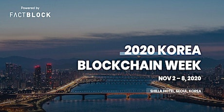 Korea Blockchain Week 2020 tickets