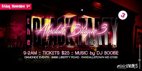 "The Black Party - ""Absolute Blaque 3"" tickets"