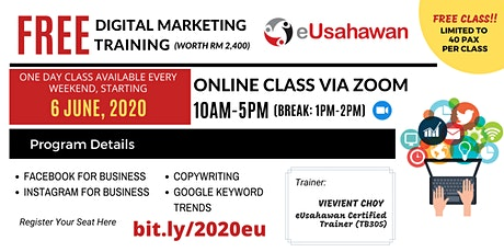 FREE Digital Marketing Training (Online) tickets