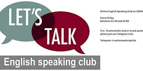Online English Speaking Club tickets