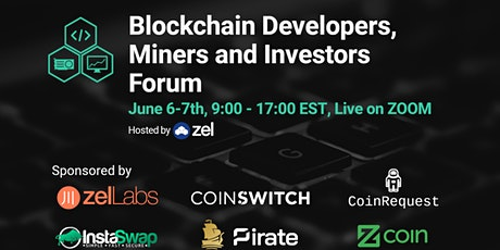 Blockchain Developers, Miners and Investors Forum tickets