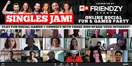 Singles Jam - NYC Singles Online Game Night: A Social Party From Home! tickets