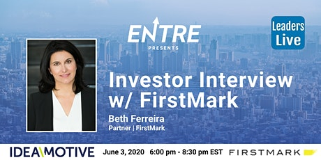Investor Interview with Partner of FirstMark tickets