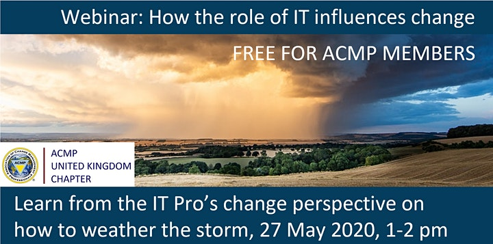 ACMP UK Webinar:   How the role of IT influences change image
