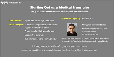 Starting Out as a Medical Translator tickets