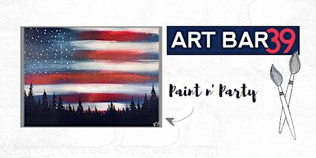 Paint & Sip   ART BAR 39   Public Event   Patriotic Woods tickets