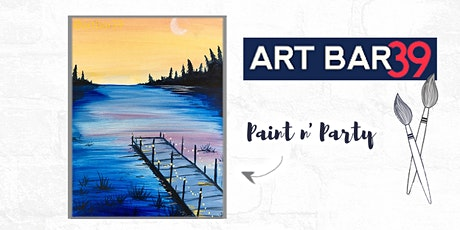 Paint & Sip | ART BAR 39 | Public Event | Sunset on the Dock tickets