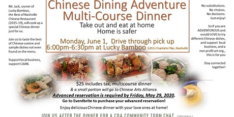 Chinese Dining Adventure on June 1, 2020 tickets
