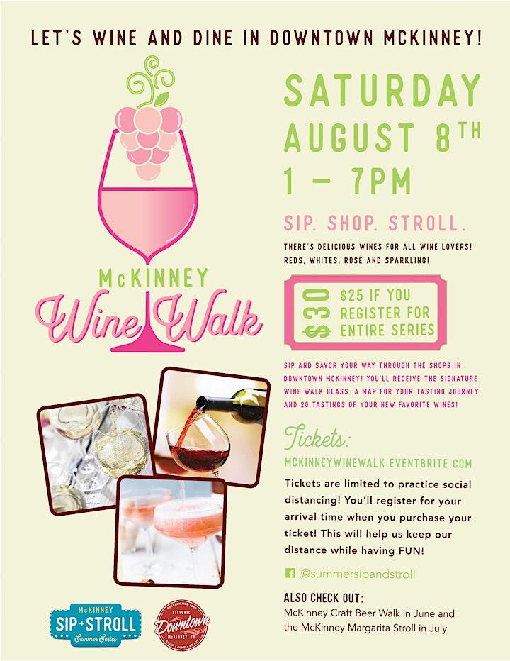 Mckinney Wine Walk image