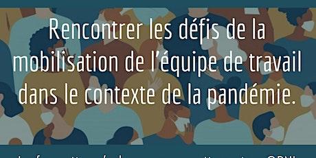 Les défis de la mobilisation de l'équipe de travail dans le contexte de la pandémie. billets
