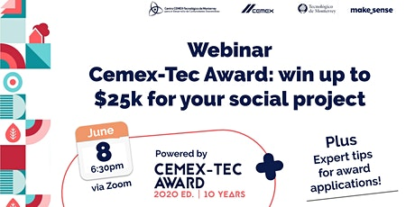 Webinar Cemex-Tec Award: Win up to $25k for your social impact project tickets
