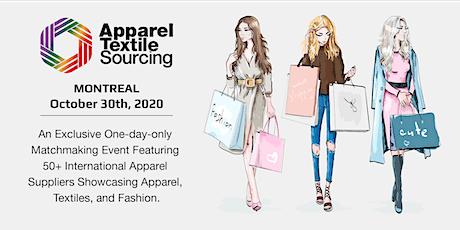 Apparel Textile Sourcing Montréal | Matchmaking B2B Event | 2020  billets