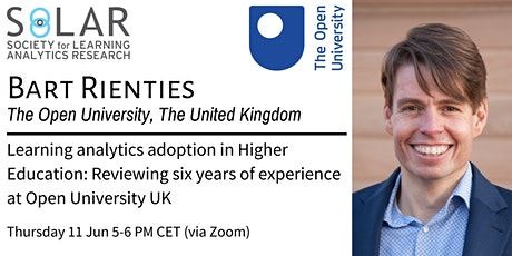 Learning analytics adoption in Higher Education: Reviewing six years of experience at Open University UK, Prof Bart Rienties, UK tickets