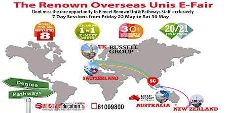 The Renown Overseas Unis E-Fair  tickets