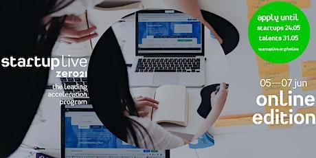 Startup Live Online Program — join your favorite startup tickets