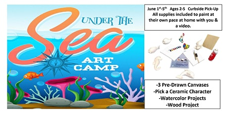 Under the Sea Art Camp From Home, For Ages 2-5 years tickets