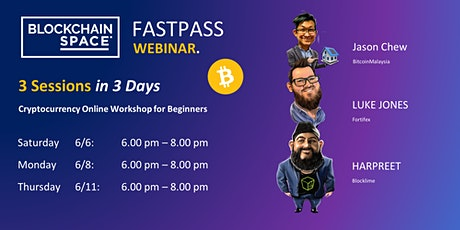 [Webinar]  FastPass - Online Workshop for Cryptocurrency Beginners tickets