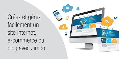 CRÉEZ ET GÉREZ UN SITE INTERNET, E-COMMERCE OU BLOG AVEC JIMDO - Cours soir tickets