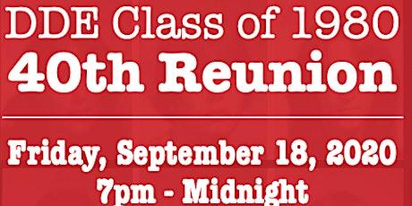 DDE Class of 1980 40th Reunion Reception tickets