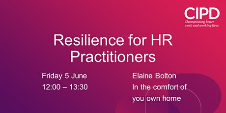 Resilience for HR Practitioners tickets