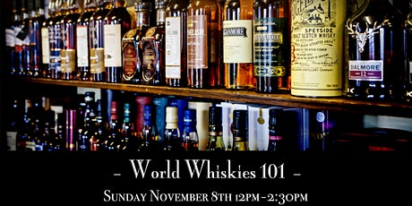 The Roosevelt Room's Master Class Series - World Whiskies101 tickets