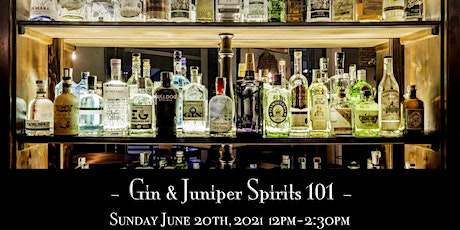The Roosevelt Room's Master Class Series - Gin & Juniper Spirits 101 tickets