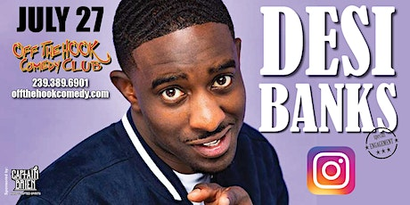 Comedian Desi Banks LIVE at Off The Hook Comedy Club in Naples, Florida tickets