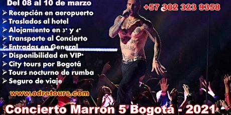 Concierto Maroon 5 Bogotá, Paquete Todo Incluido boletos