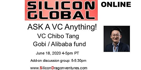 Silicon Global Online:  Ask VC Chibo Tang of Gobi & Alibaba Fund Anything bilhetes