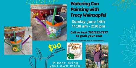 Watering Can Painting Class at Ramona Ranch Winery tickets
